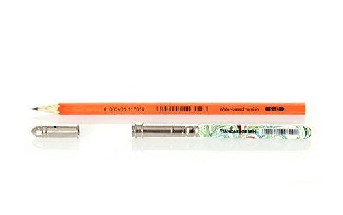 Bleistiftset aus Bleistift, Verlängerung marmoriert und Schutzkappe