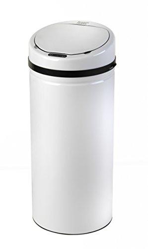 Russell Hobbs BW04512W - Cubo de Basura con Sensor de Movimiento, Color Blanco, Talla 30 litros