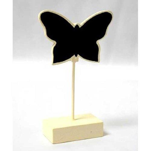 6Kreidetafel Schmetterling Form Platzkarten holder-ivory (Vintage Karte Tischset)