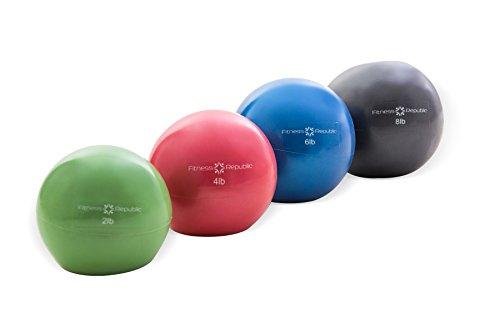 2 Lb 4 (Fitness Republik Pilates Weighted Ball (Fitness Toning Ball), (Combo 2lb, 4lb, 6lb & 8lb))