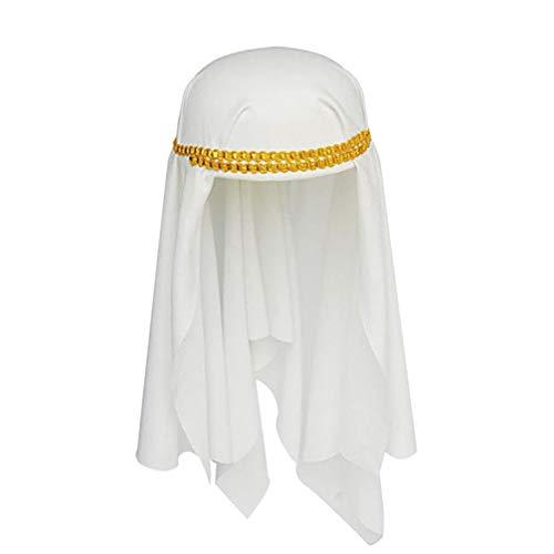Amosfun Aladdin Arabian Prince Hut Halloween Arabian Cap Erwachsenen Maskerade Party Hut Kostüm Arabian Cosplay Kostüm Zubehör für Erwachsene (Arabian Kostüm Zubehör)