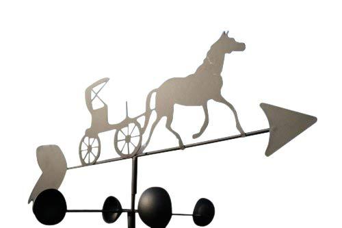 GardenMarketPlace Wetterfahne für Pferde und Kutsche, Stahl