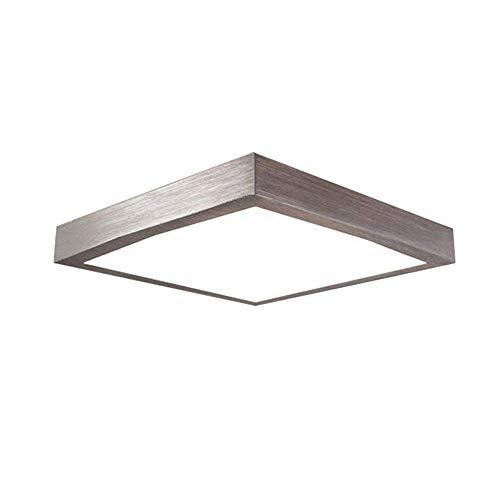 16W LED Kaltweiß Modern Deckenlampe Deckenleuchte Schlafzimmer Küche Flur Wohnzimmer Lampe Wandleuchte Energie Sparen Licht Silber - Leuchtstoff-einbau