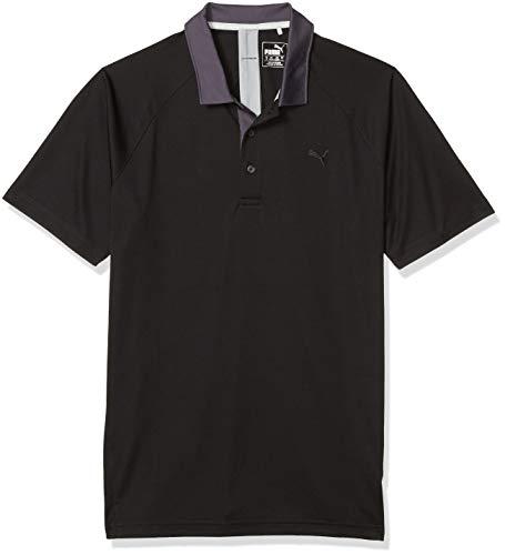 PUMA Golf Men's Short Sleeve Dynamic Vent Polo, Black, Medium