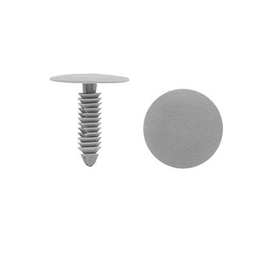 Clips dealMux 50pcs 7 mm de plastique du trou du rivet type de Insert de vis de la porte pare-chocs Pin gris