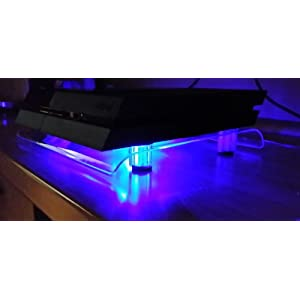 SM-PC® PS4 / PS4 Slim / PS4 Pro Kühler USB Design Cooler Lüfter 18cm Ständer passend für Playstation 4 Zubehör #240