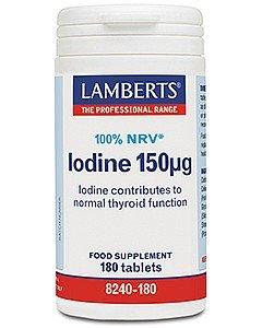Lamberts Yodo 150 ug Suplemento - 180 Tableta