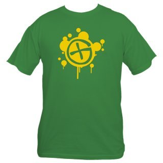 Geocaching T-Shirt - GX Splash Grün