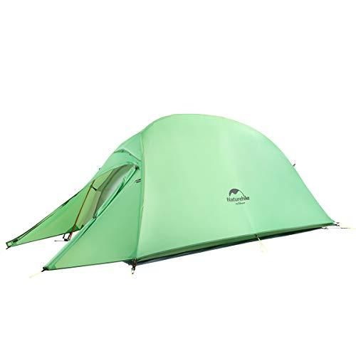 Naturehike Cloud-up Ultraleichte 1 Personen Single Zelt 3-4 Saison Camping Zelt (210T Grün Upgrade) -