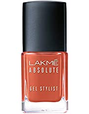 Lakmé Absolute Gel Stylist Nail Color, Tawny Brown, 12 ml
