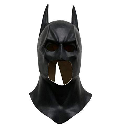 Realistische Batman Kostüm - YAX Masken Batman Masken Realistische Halloween Vollgesichts Latex Batman Muster Maske Kostüm Party Masken Karneval Requisiten