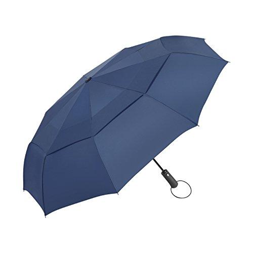 Ombrello Pieghevole antivento Vanwalk,Automatico Apri e Chiudi, Compatto Antivento Ombrello per esterno da viaggio , 9 stecche rinforzate, 190T Fabric Sturdy (Blu)