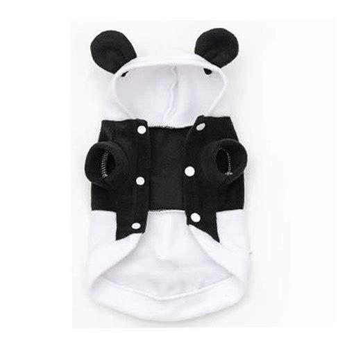 Weibliche Kostüm Panda - Haustierkleidung,Hundekostüm, Haustier Panda Kostüm einteiliges Kleid, niedliche Haustierkleidung Panda Babykleidung tragen Herbst Winter geladen Hundekleidung (Size : XS)