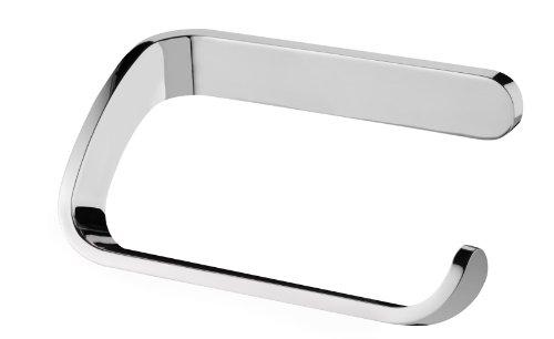 Bisk 04312 Natura Papierhalter ohne Deckel Verchromt, 13 x 7.5 x 5 cm - Chrom Natur