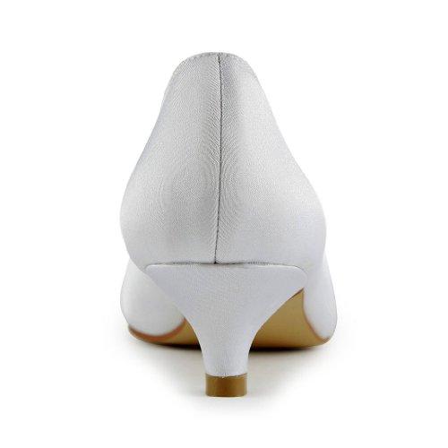 Jia Jia Wedding 0112 chaussures de mariée mariage Escarpins pour femme Blanc