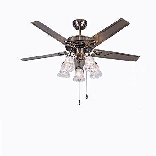Luz de ventilador de techo tradicional de interior con control de cadena de tracción Luz de ventilador...
