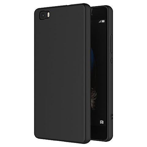 Coque Huawei P8 Lite Noir - Coque Huawei P8 Lite, AICEK Noir Silicone