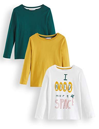 Red wagon space multipack maglia a maniche lunghe bambino pacco da 3, multicolore (white, mustard and green) 116 (taglia produttore: 6)