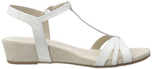Tamaris 28202, Sandales femme Blanc (White 100)
