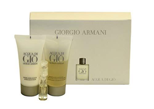 1,5 Ml Mini (Giorgio Armani Acqua di Gio Set Mini 15ml After Shave Balm + 15ml Hair and Body Shampoo + 1,5 ml EDT)