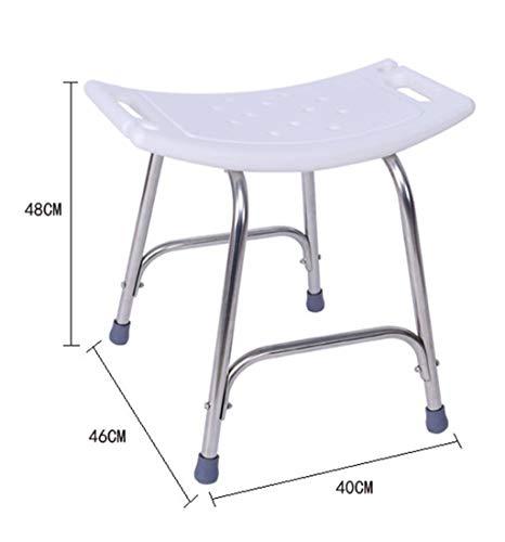 MJY Duschstuhl Badewannensitz, höhenverstellbarer Edelstahl-Badwannensitz Pe Bench Plate Curved Design, Bär 200Kg Größe -46X40X48Cm, Weiß -