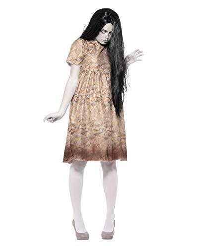 Horror-Shop Böser Geist Halloween Kostüm für Damen inkl. Perücke M (Gruselige Kostüm Aus Der Vergangenheit)