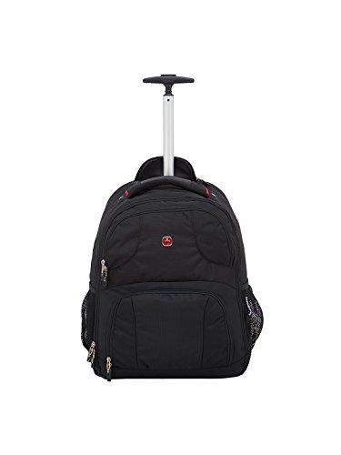 "Swiss Gear 18.5"" Rolling Computer Backpack 38 L Trolley Laptop Backpack (Black)"