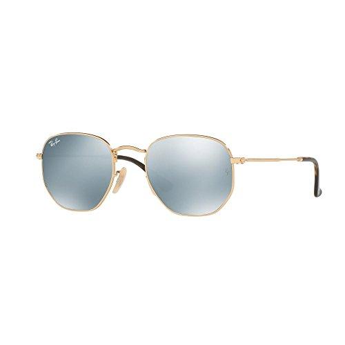 Ray Ban RB3548N Sunglasses Gold Grey Mirror