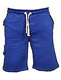 Tout Neuf Hommes Uni Jogging Polaire Bas Short Taille S M L XL XXL