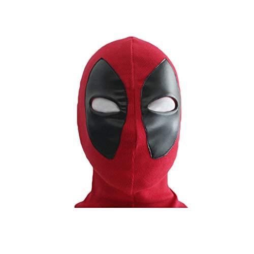 GanSouy Maskerade Helm Halloween Maske Erwachsene Spider-Man Maske, Spiderman Hood Helm Comics Held Kopfbedeckung Kostüm Cosplay für Erwachsene und Jugendliche (rot),Spiderman-OneSize