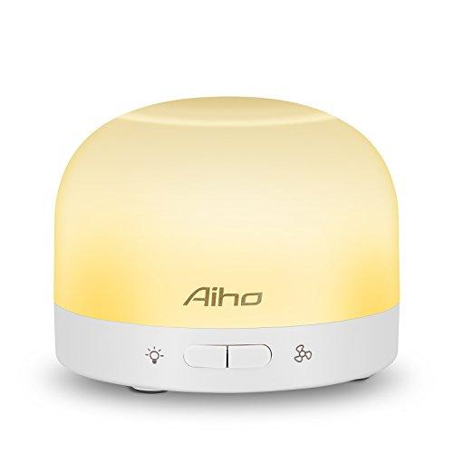 Duftverteiler, Aiho Raumbedufter Aromastreamer Aromatherapie Mini Tragbar USB Kabel/Batterienbetrieben Ätherische Öl Raumduft mit eingebautem Ventilator 7 LED-Farbwechsel leise als Nachtlicht perfekt für Yoga, Zimmer, Büro, Schlafzimmer, Reise, Auto (AD-P7)