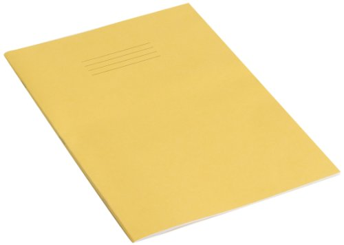 rhino-a4-top-plain-and-bottom-13mm-ruled-32-page-project-book-yellow-cover-pack-of-10