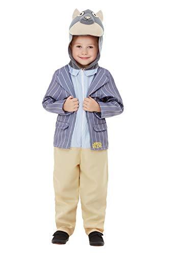 Smiffys 48784T2 - Disfraz de lujo con licencia oficial de Wind in The Willows, para niños, color azul, para niños de 3 a 4 años