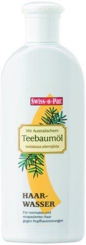 Swiss-o-Par Teebaumöl Haarwasser 250ml, gegen Kopfreizungen, Schuppen und fettiges Haar