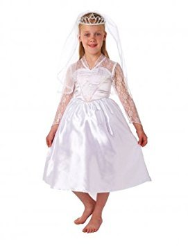Christy's Dress Up Beautiful Bride Veil Tiara Costume (6 - 8 Years)