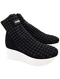 Gioselin Scarpa Donna Sneakers Flat Borchie Studs Nero Nero 8dd96e648e9