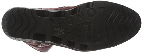 Fly London Pong673fly - Stivali Metà Polpaccio Donna Rosso (Red 004)