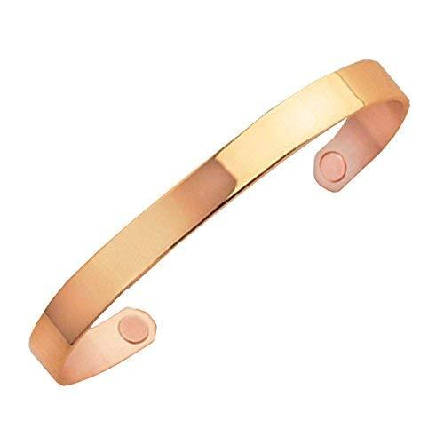 Sabona of London Magnetschmuck Kupferspange Gold Original für Damen und Herren mit Einer 18-Karat-Gold-Auflage, Verschiedene Größen