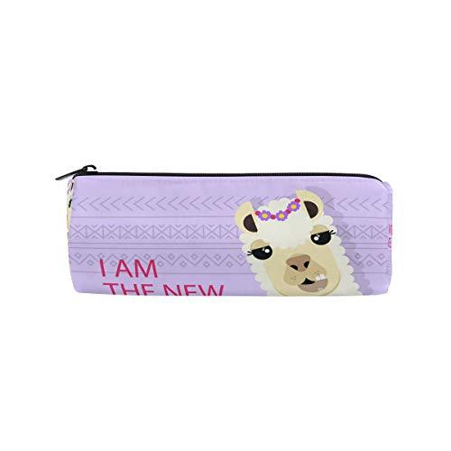 JERECY süße Llama Alpaca Federmäppchen Tasche Schule, Schreibwaren, Stiftebox Reißverschluss Kosmetik Make-up Tasche
