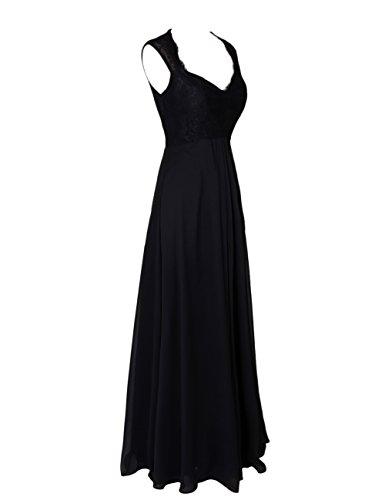 Dresstells Bodenlange Abendkleider Promi-Kleider Party Kleider Schwarz