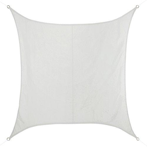 Bb sport tenda velario quadrato disponibile in diverse misure e colori - resistente all'acqua, idrorepellente al 100% poliestere (pes), dimensione:3m x 3m, colore:cocco