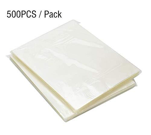500 Blatt Laminierfolien, DIN A4 80 mic Laminierfolie, 9 x 11.5 Zoll(229 x 292 mm) Laminating Pouches, wasserdicht, unzerbrechlich und glänzend, ideal für Dokumente, Fotos oder Karten