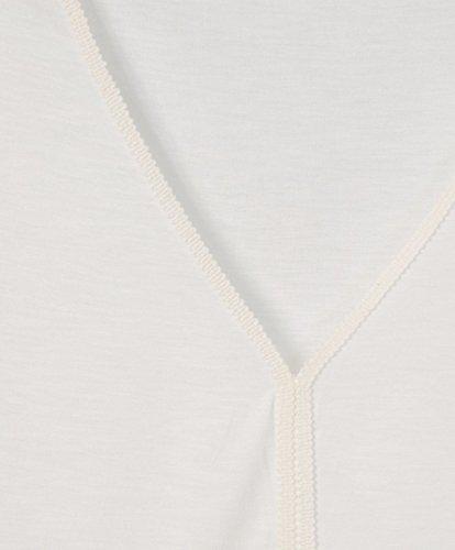 SIENNA T-Shirt - weich fallend, Zierkante - Comfort Fit - Romantik-Look Offwhite