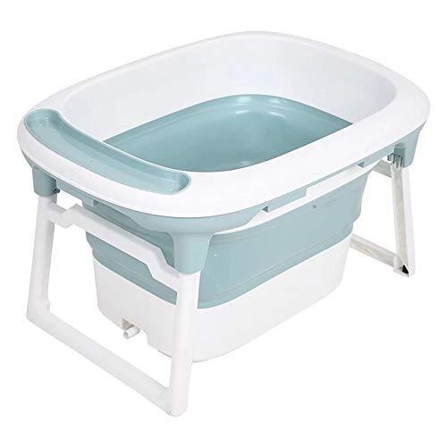 YNPGHG Faltbare Säuglingsbadewanne Duschwanne Mit Badnetz, Babywanne Tragbare Badewanne Kleinkind Kinder Waschen Spielen Kunststoff - Einfache Aufbewahrung Reinigen (0-6 Jahre),Blue -