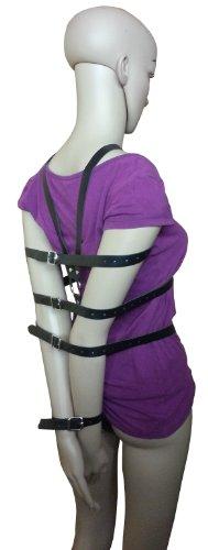 Bondage Leder Hand Arm Rücken Fesseln Harness Riemen Body Handfesseln