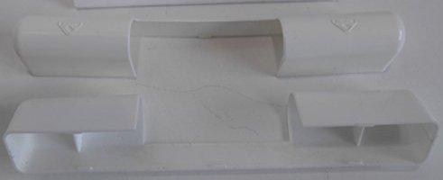 fensterbeschlag abdeckung 1 Stck roto abdeckkappe scharnier abdeckung weiß 107 mm lang