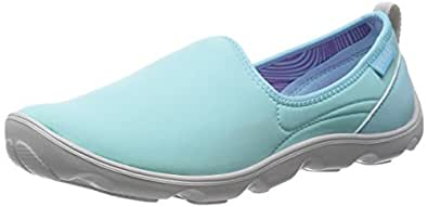 Crocs Women's Duet Busy Day Skimmer W Ice Blue and Pearl White Sneakers - 4 UK