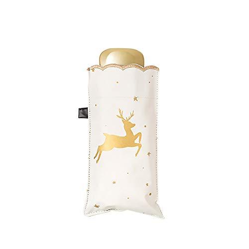 Wongfon Regenschirm Falten für Mini Cool Leichte Mini Regenschirm Geschenkgebrauch für Regen oder Sonne Reisen Winddicht Tragbare Outdoor Regenschirme Kinder Frauen Männer