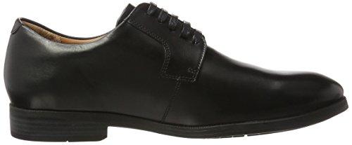 Weber Schuh Herren Derby Plain Derbys Schwarz (Black)