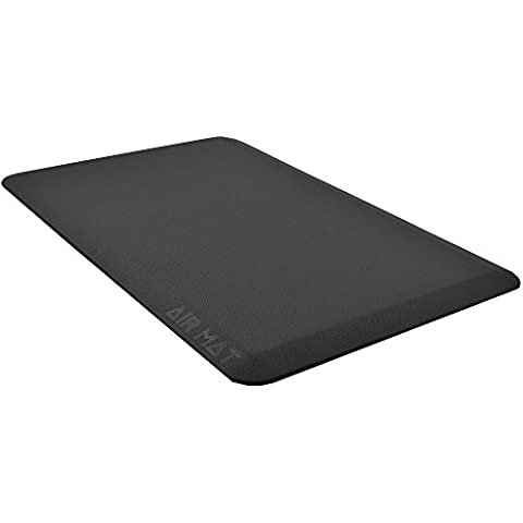 Anti Fatigue Kictehn Mat for Comfort and Standing Desk, Premium Non Skid Cushioned Floor Rug, Ergonomically Designed, 20 x 32 x 3/4 inch Black by Air Mat
